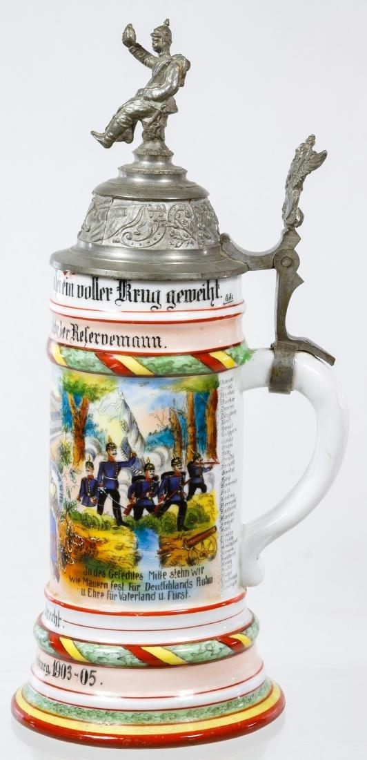 German Regimental Lithophane Half Liter Stein - 2