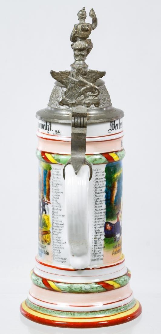 German Regimental Lithophane Half Liter Stein - 3
