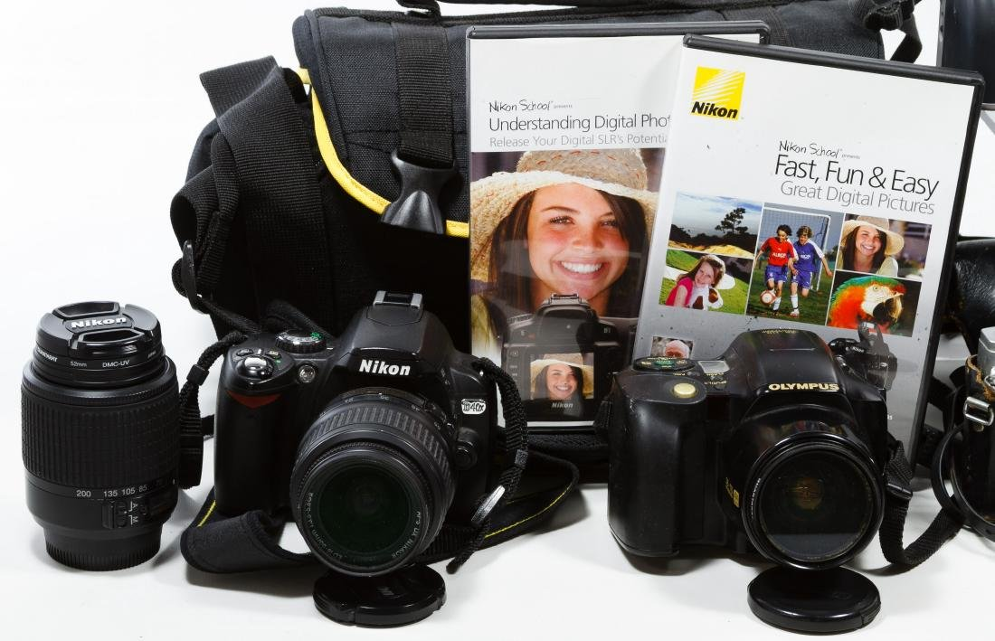 Canon, Nikon and Olympus Camera Assortment - 2