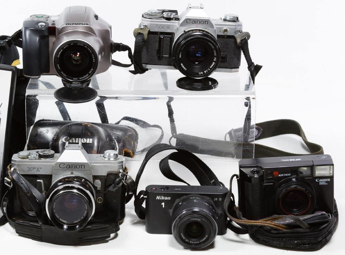 Canon, Nikon and Olympus Camera Assortment - 3
