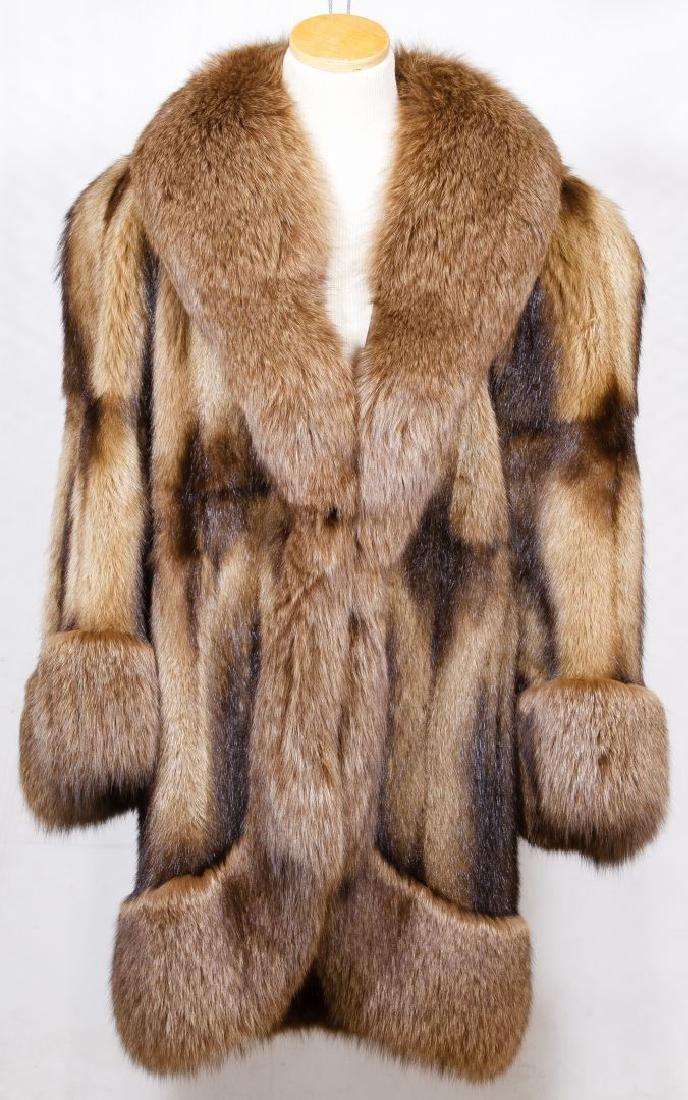 Beaver and Fox Fur Coat