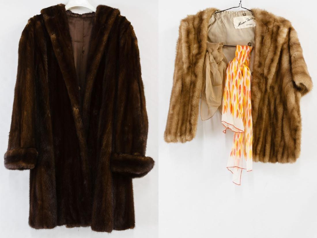 Mink Fur Car Coat and Mink Fur Stole