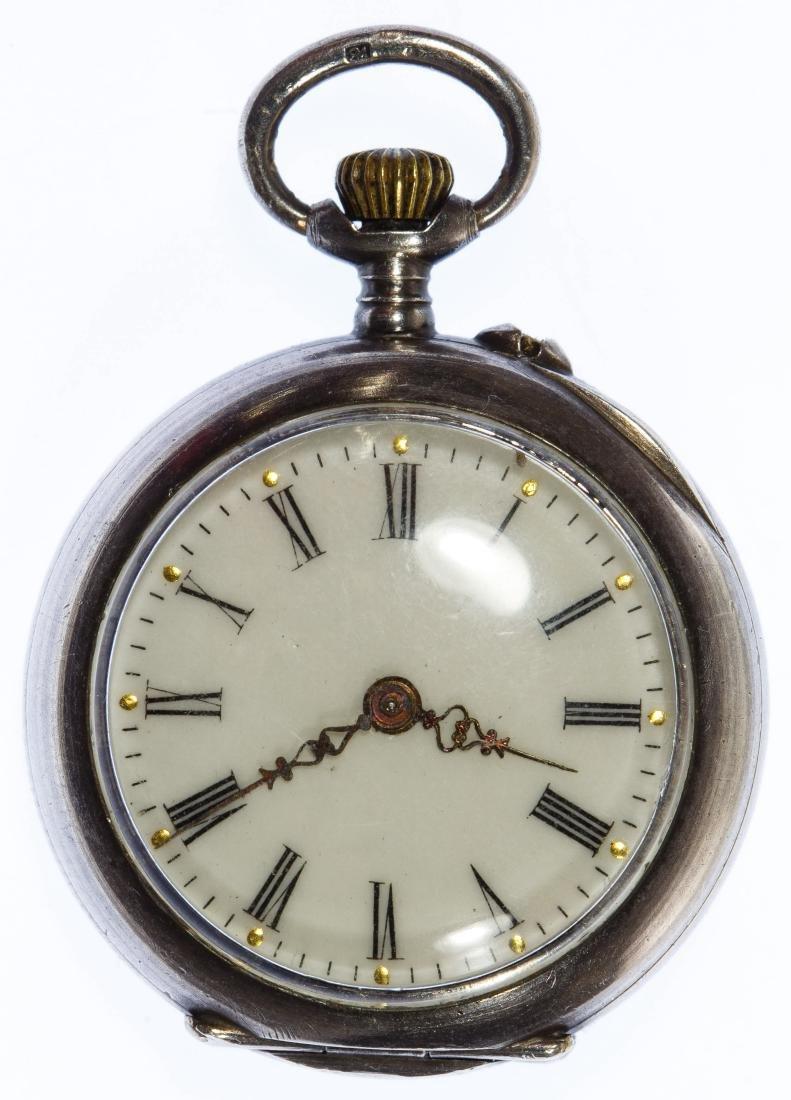 Sterling Silver (.935) Open Face Pocket Watch