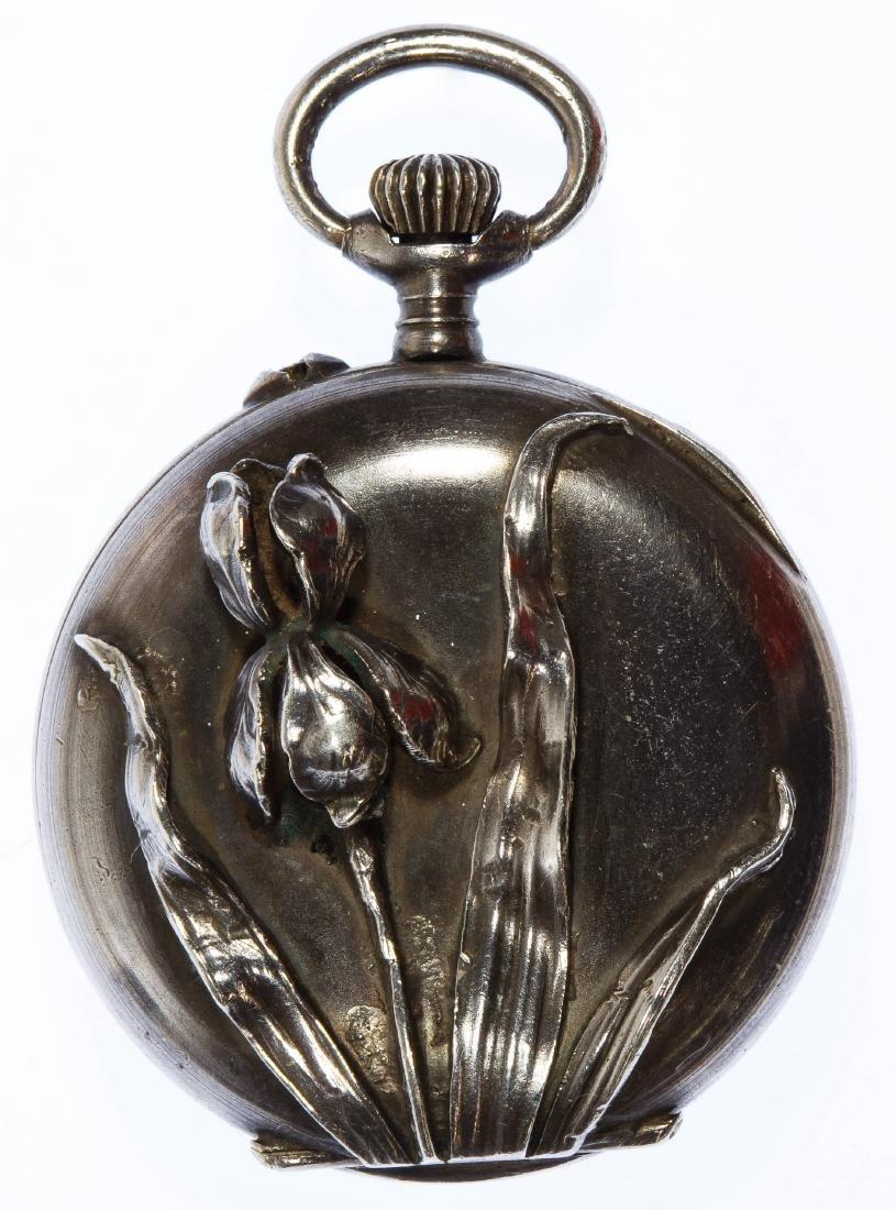Sterling Silver (.935) Open Face Pocket Watch - 2