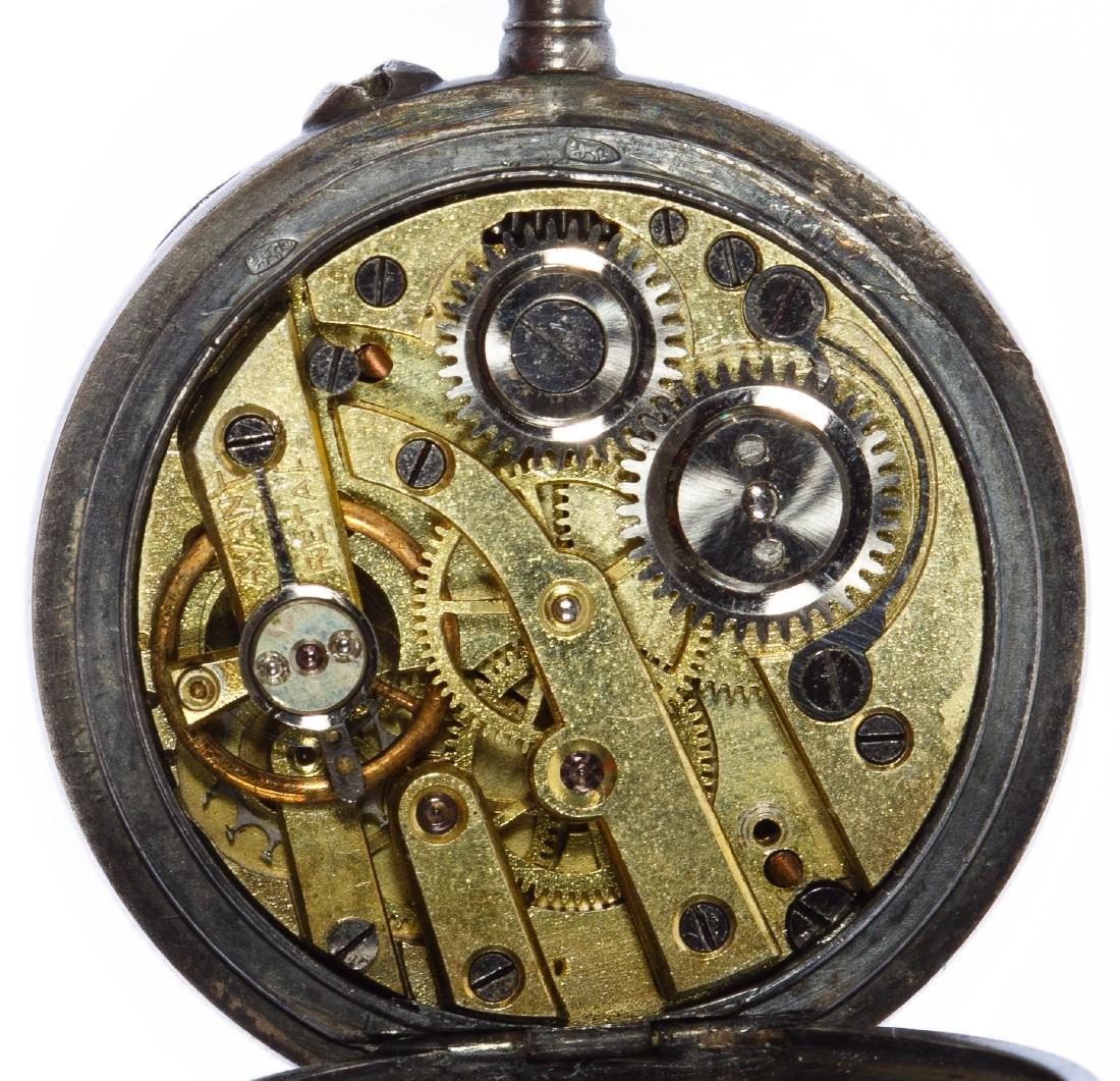 Sterling Silver (.935) Open Face Pocket Watch - 4