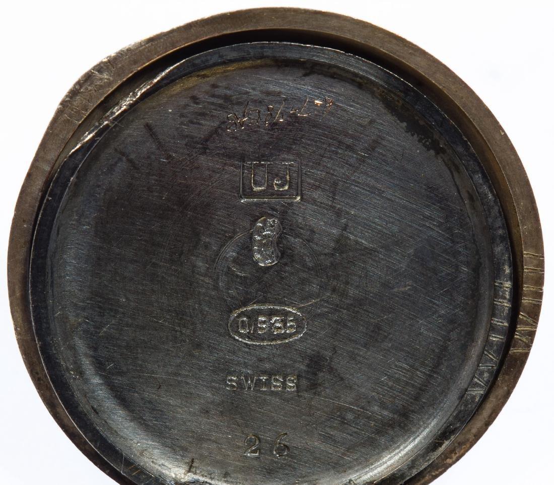 Sterling Silver (.935) Open Face Pocket Watch - 5