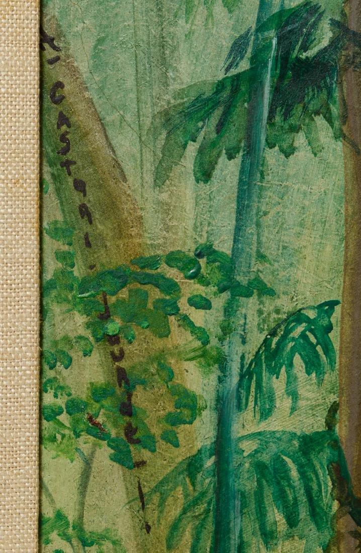 Helene Castori Jourde (French, 20th Century) Oil Board - 4
