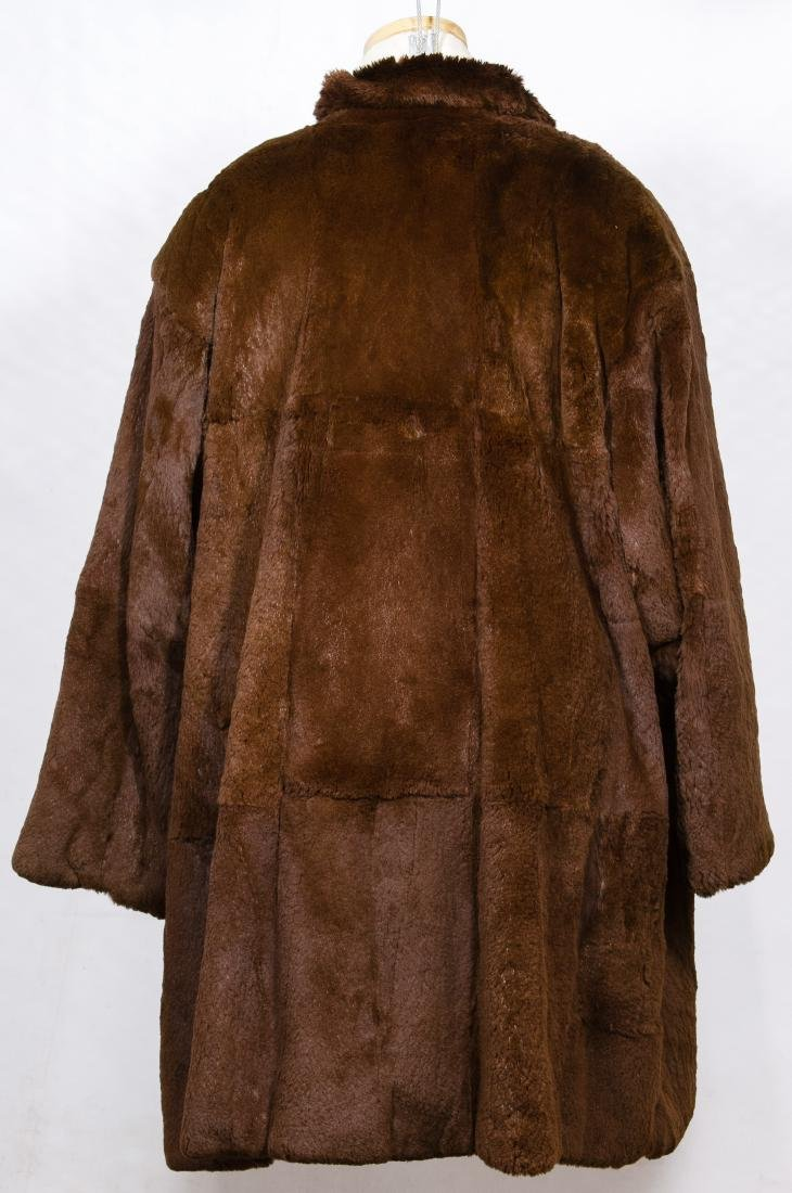 Brown Sheared Beaver Fur Coat by Carole Little - 2