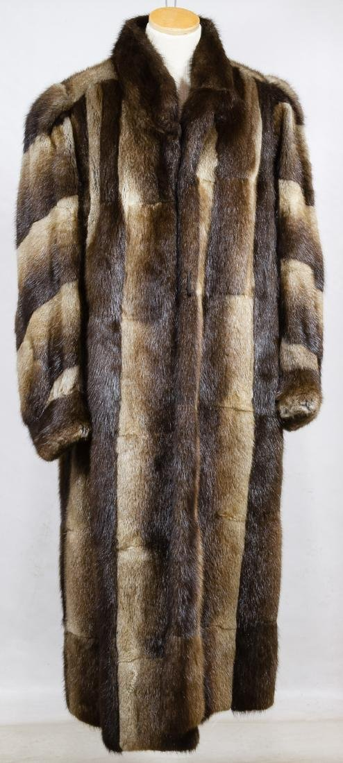 Pieced Beaver Fur Coat by Dion Furs