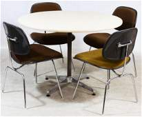 MCM Table and Chair Set by Charles Eames Herman Miller