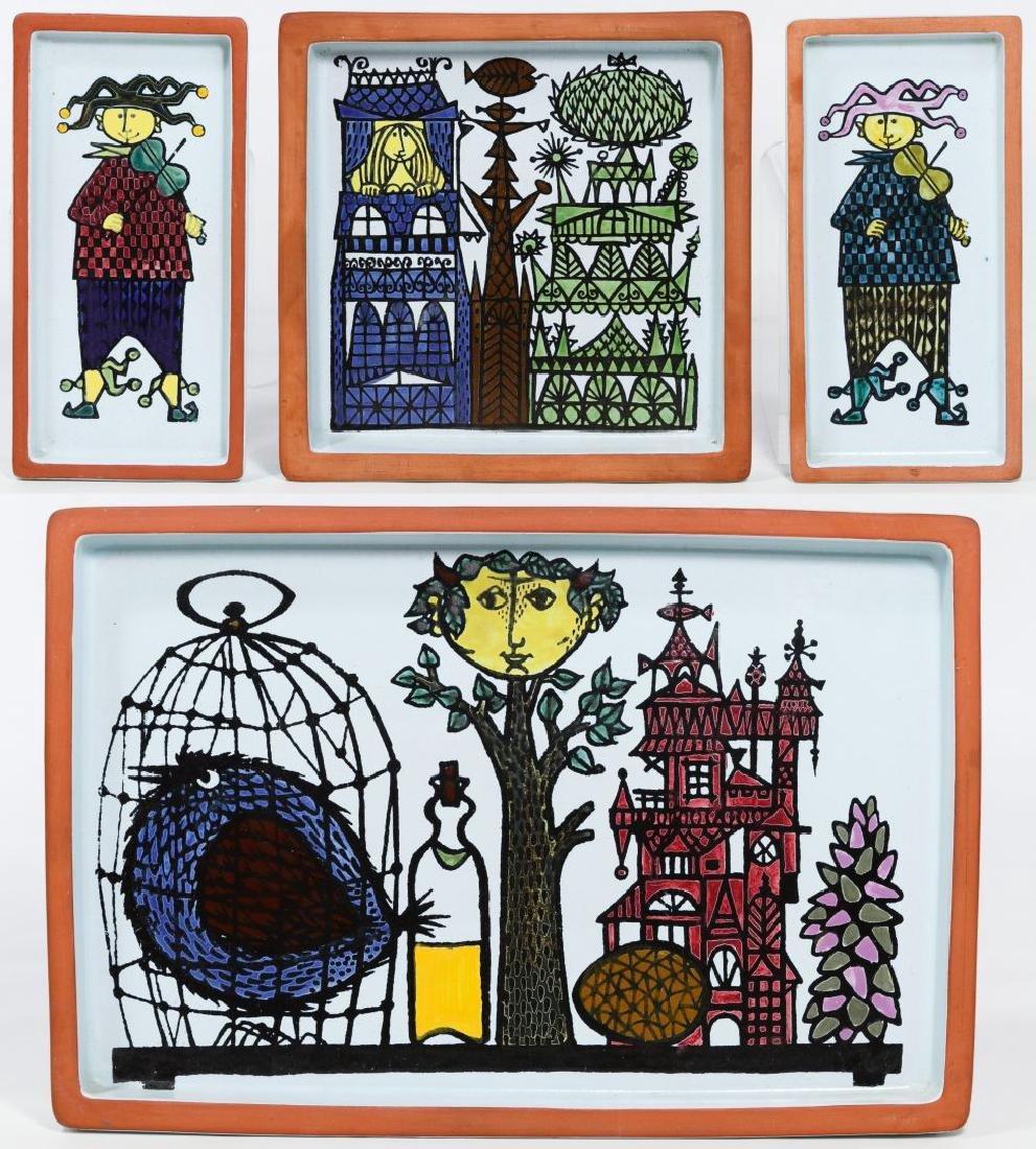 Gustavsberg Faience Plaques by Stig Lindberg