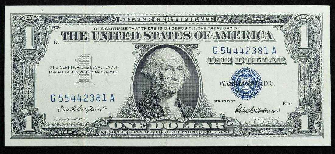 1957 1 Silver Certificate Error Note