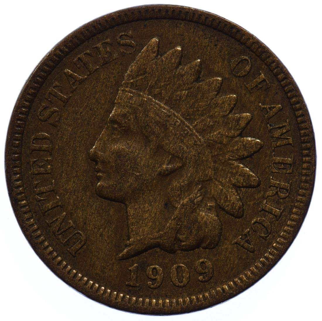 1909-S Indian Head 1c VF