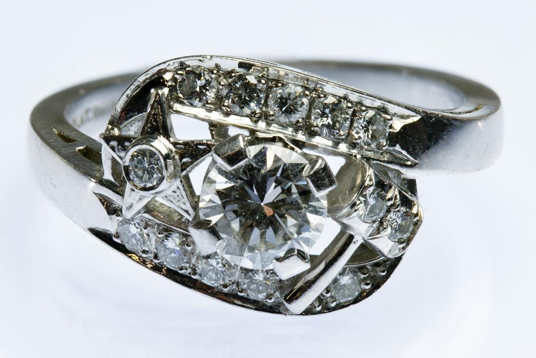 OES Masonic Platinum and Diamond Ring