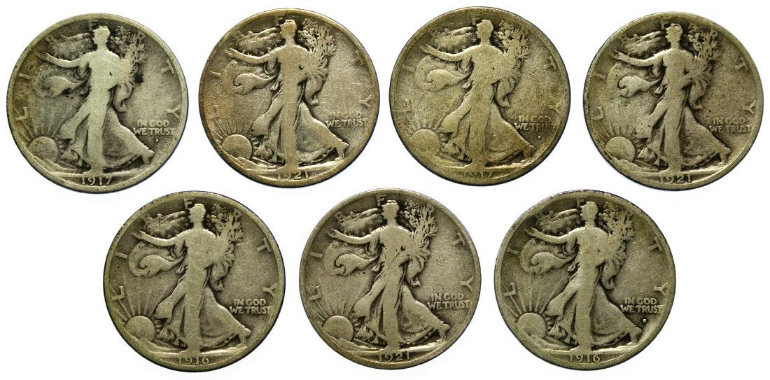 Walking Liberty 50c Assortment