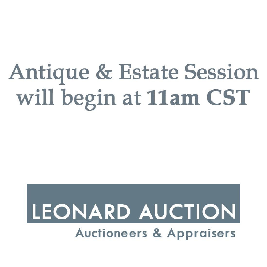 The Antique & Estate Session Begins at 11am CST
