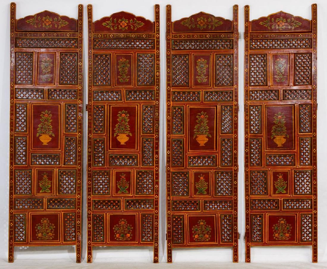 Painted Room Divider Screen