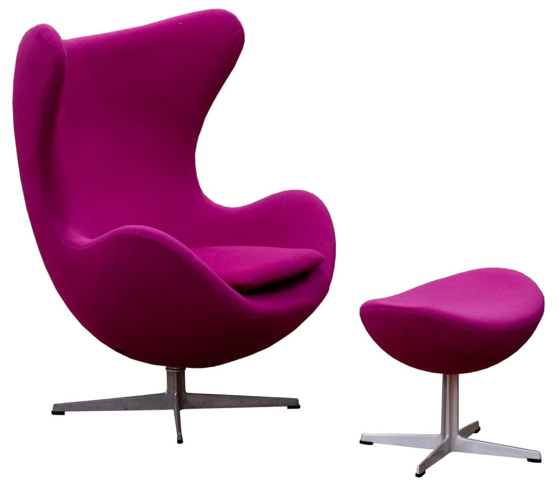MCM Egg Chair and Ottoman by Arne Jacobsen for Fritz