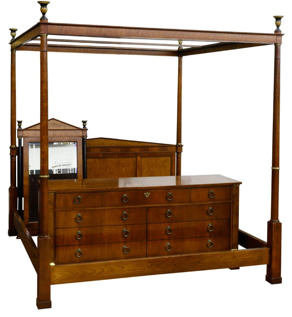 Mahogany Wood Bedroom Suite by Baker Furniture