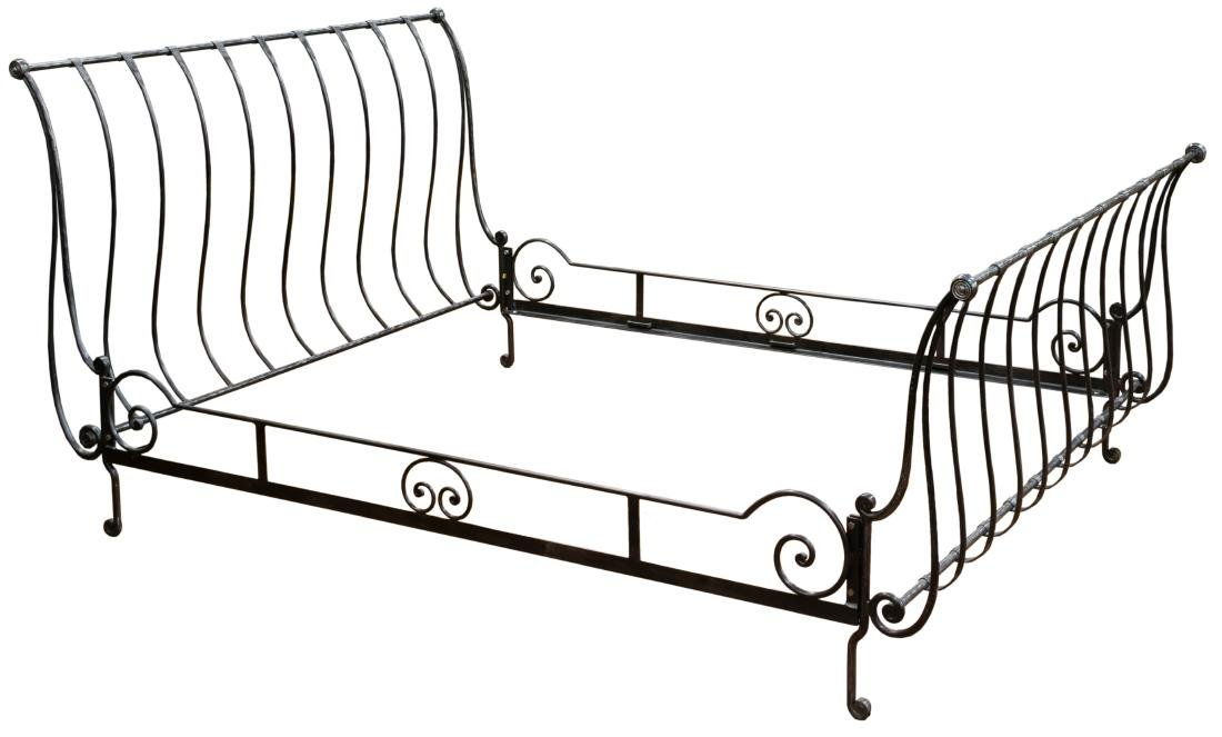 Wrought Iron Sleigh Bed Frame