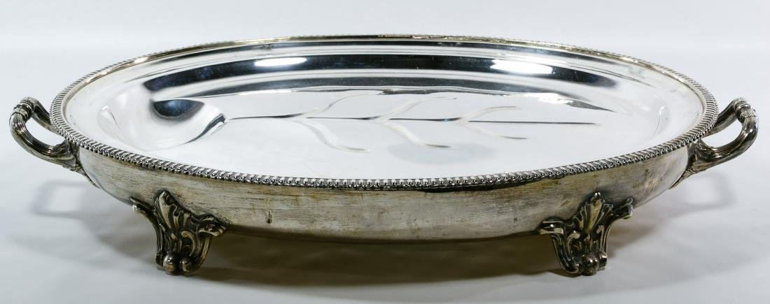 Victorian Silverplate Meat Dome and Platter - 2