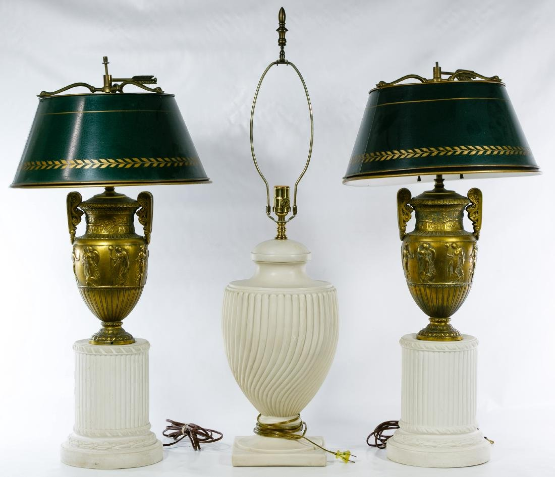 Marble Based Table Lamp Assortment