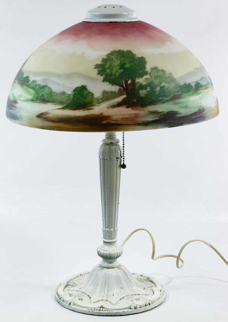 Reverse Painted Shade Table Lamp - 2