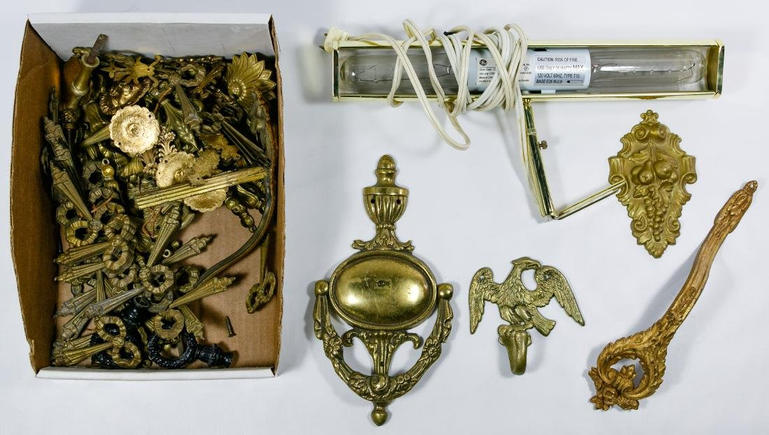 Table Lamp, Wall Sconce and Decorative Brass Assortment - 3