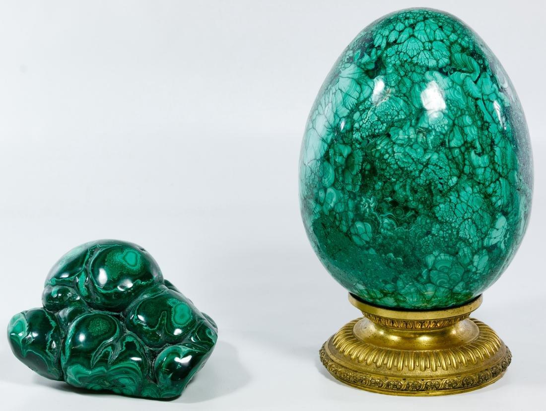Malachite Egg Form Specimen