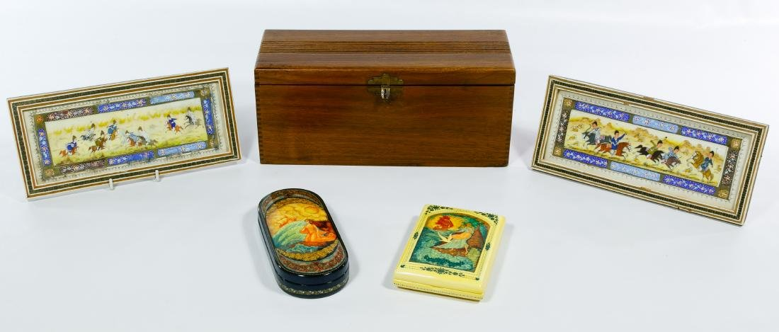 Russian Lacquer Trinket Boxes