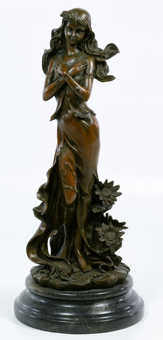 (After) Jean Patou (Italian, 1887-1936) Bronze Statue