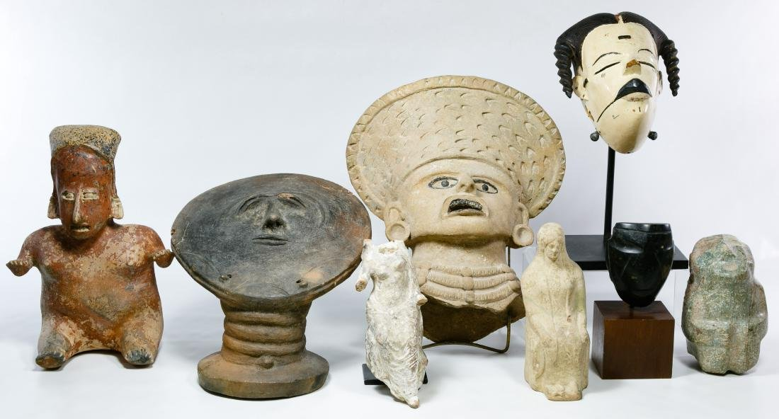 Primitive Figurine and Mask Assortment