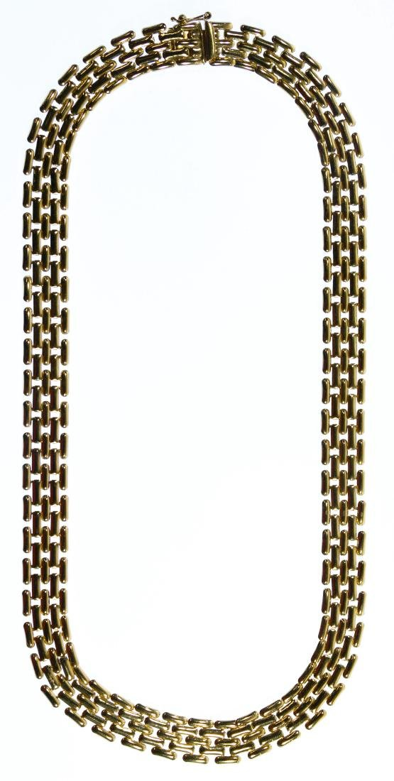 14k Gold Woven Link Necklace