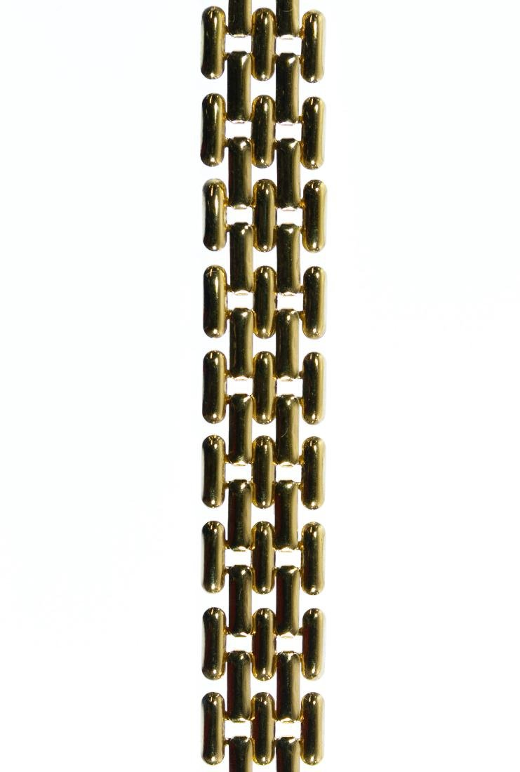 14k Gold Woven Link Necklace - 2