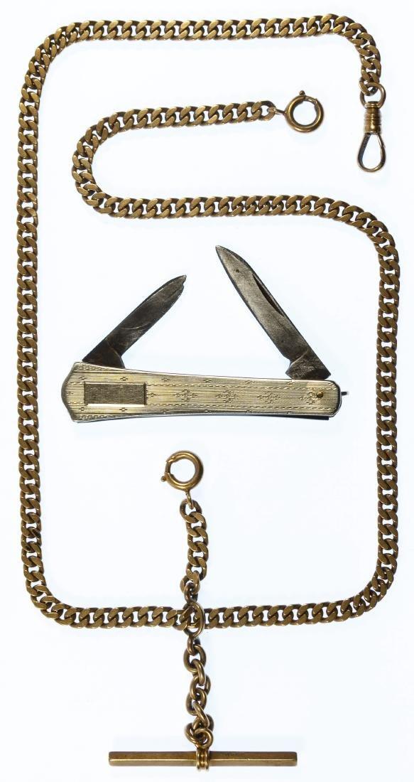 14k Gold Pocket Watch Chain