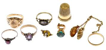 14k and 10k Gold Jewelry Assortment