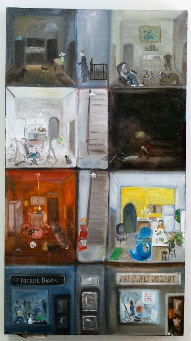 Tracy Ostmann (American, b.1969) 'Apartment' Acrylic on