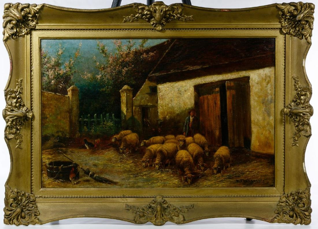 E. Fransconi (19th Century) Oil on Canvas Board