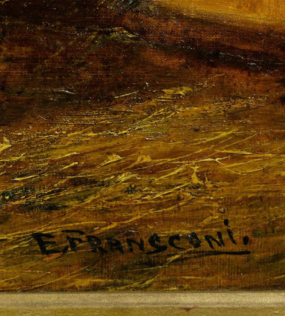 E. Fransconi (19th Century) Oil on Canvas Board - 3