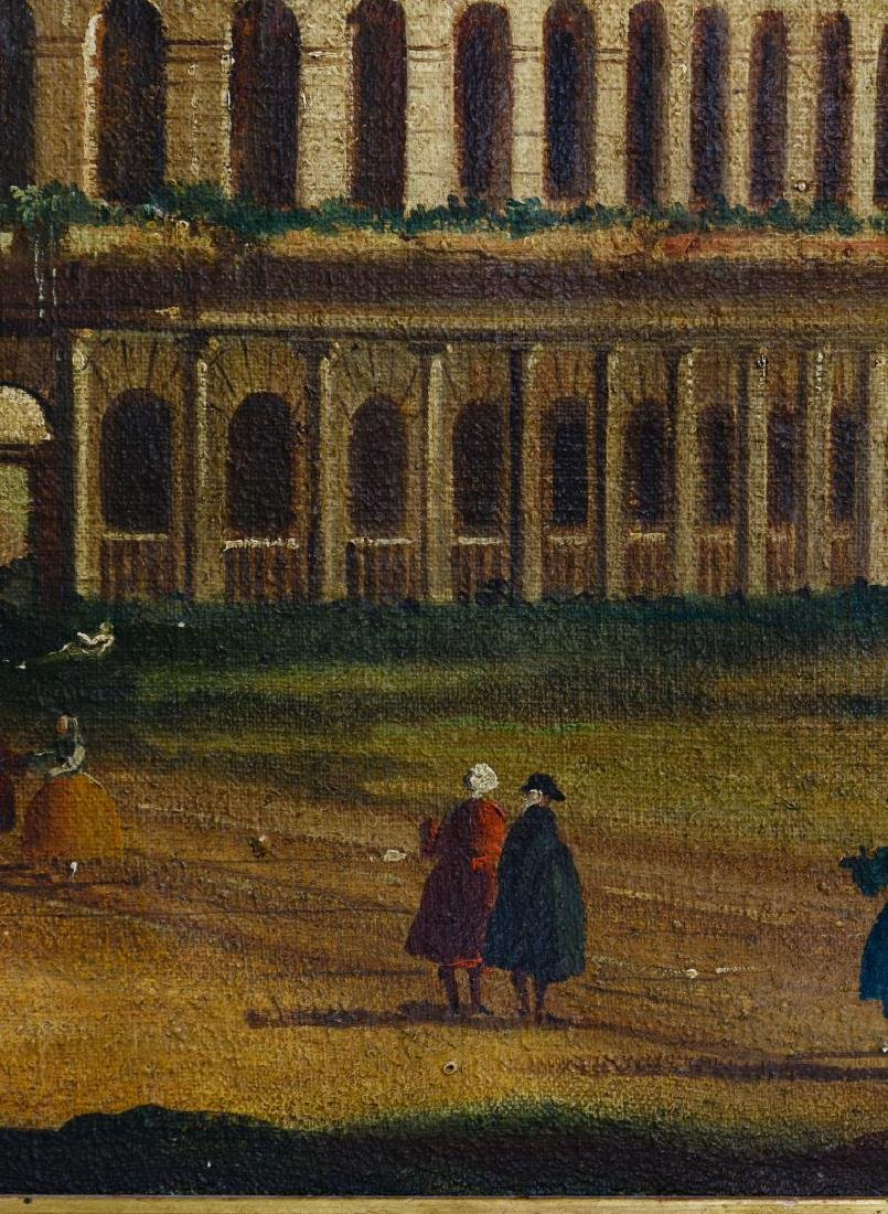 European School (19th Century) 'Italian Ruins' Oil on - 2