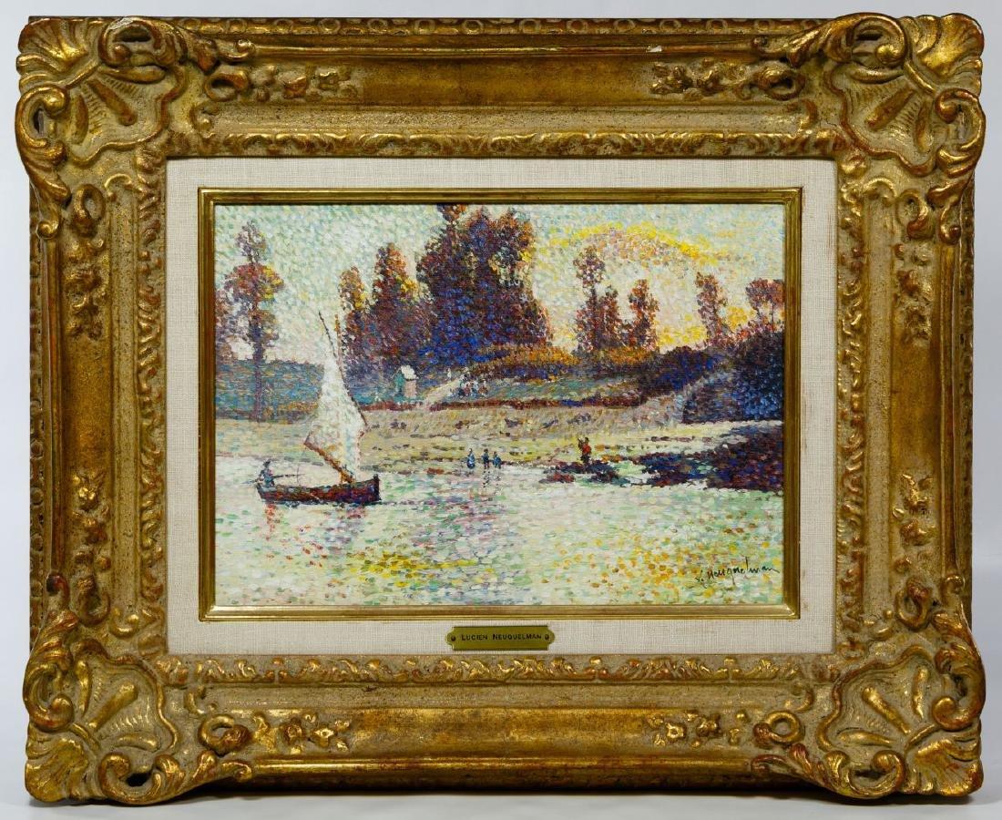 Lucien Neuquelman (French, 1909-1988) Oil on Canvas