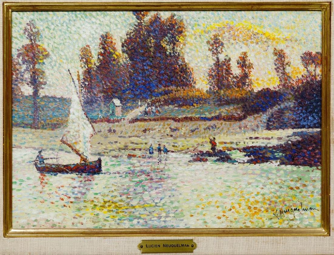 Lucien Neuquelman (French, 1909-1988) Oil on Canvas - 2