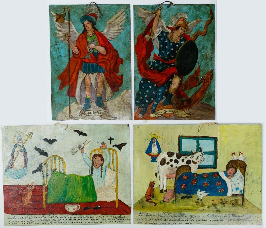 Mexican Folk Art Paintings on Tin