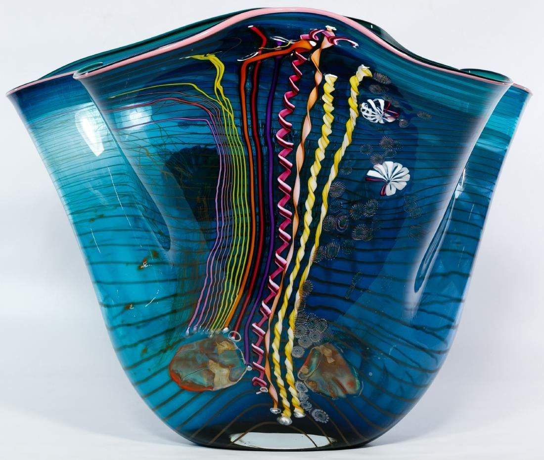 Chris Hawthorne and James Nowak Art Glass 'Aquarium'