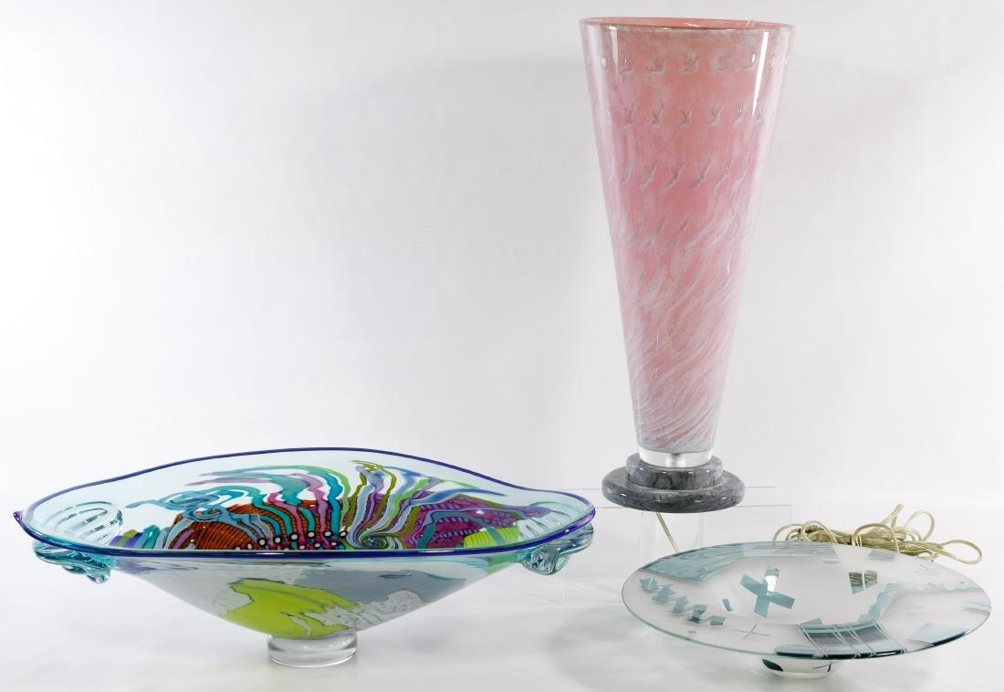 Lisa & Peter Ridabock 'Wave' Art Glass Platter