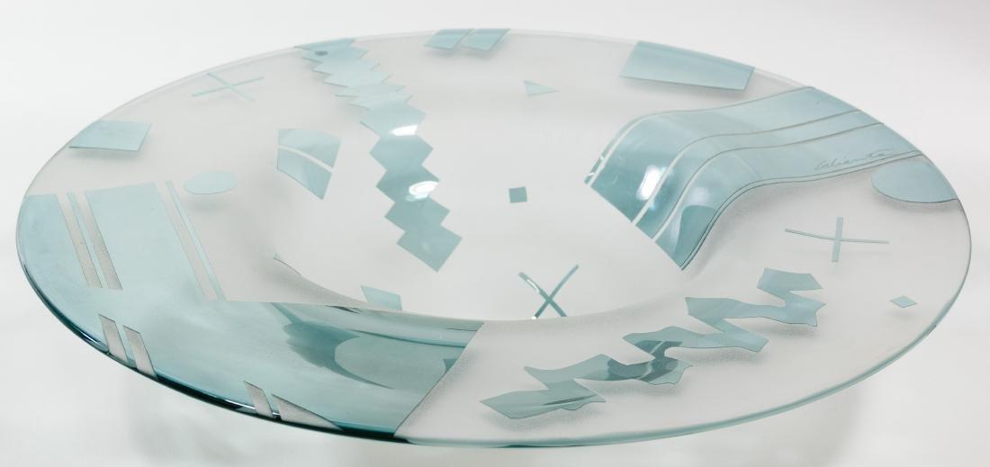 Lisa & Peter Ridabock 'Wave' Art Glass Platter - 3