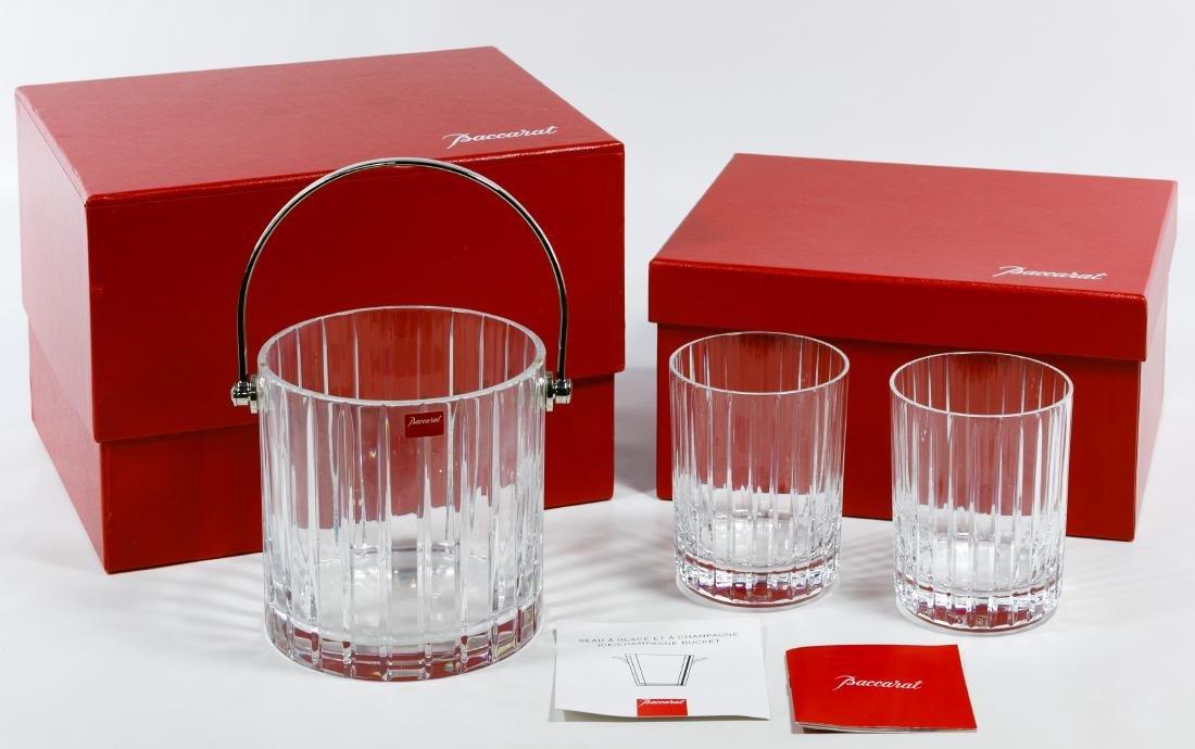 "Baccarat Crystal ""Harmonie"" Glasses and Ice Bucket"