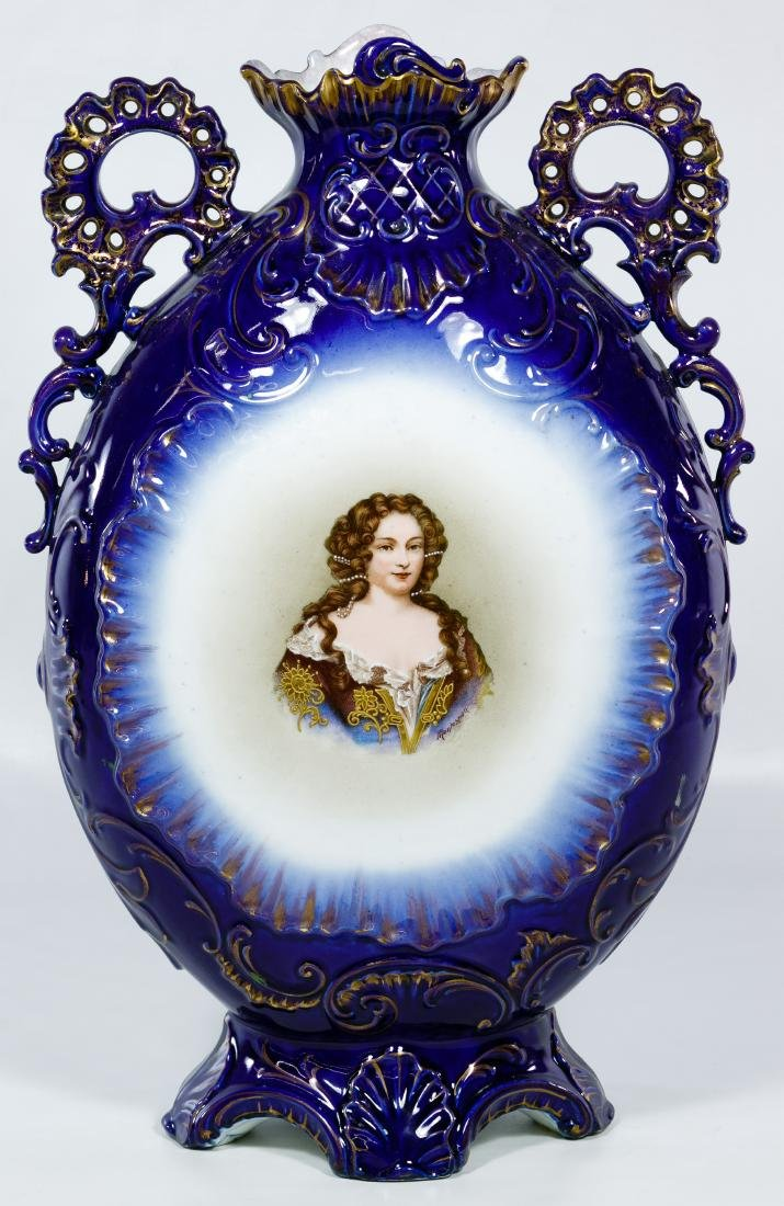 Victoria Carlsbad Austria Portrait Vase