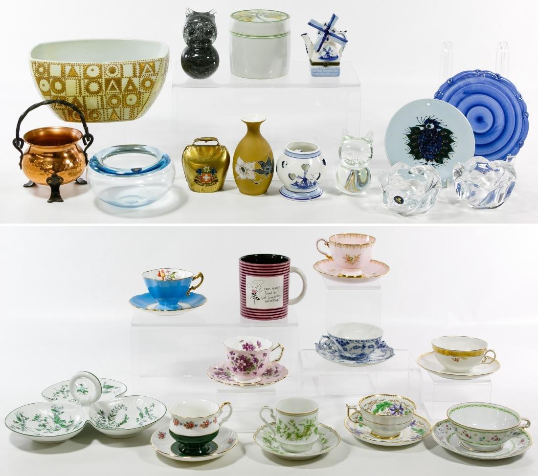 Royal Copenhagen Glassware and English Ceramic