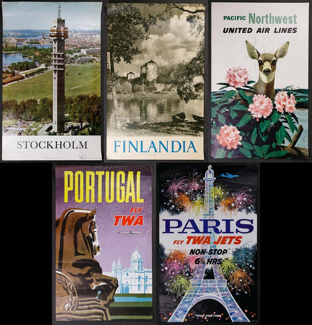 City and Airline Travel Poster Assortment